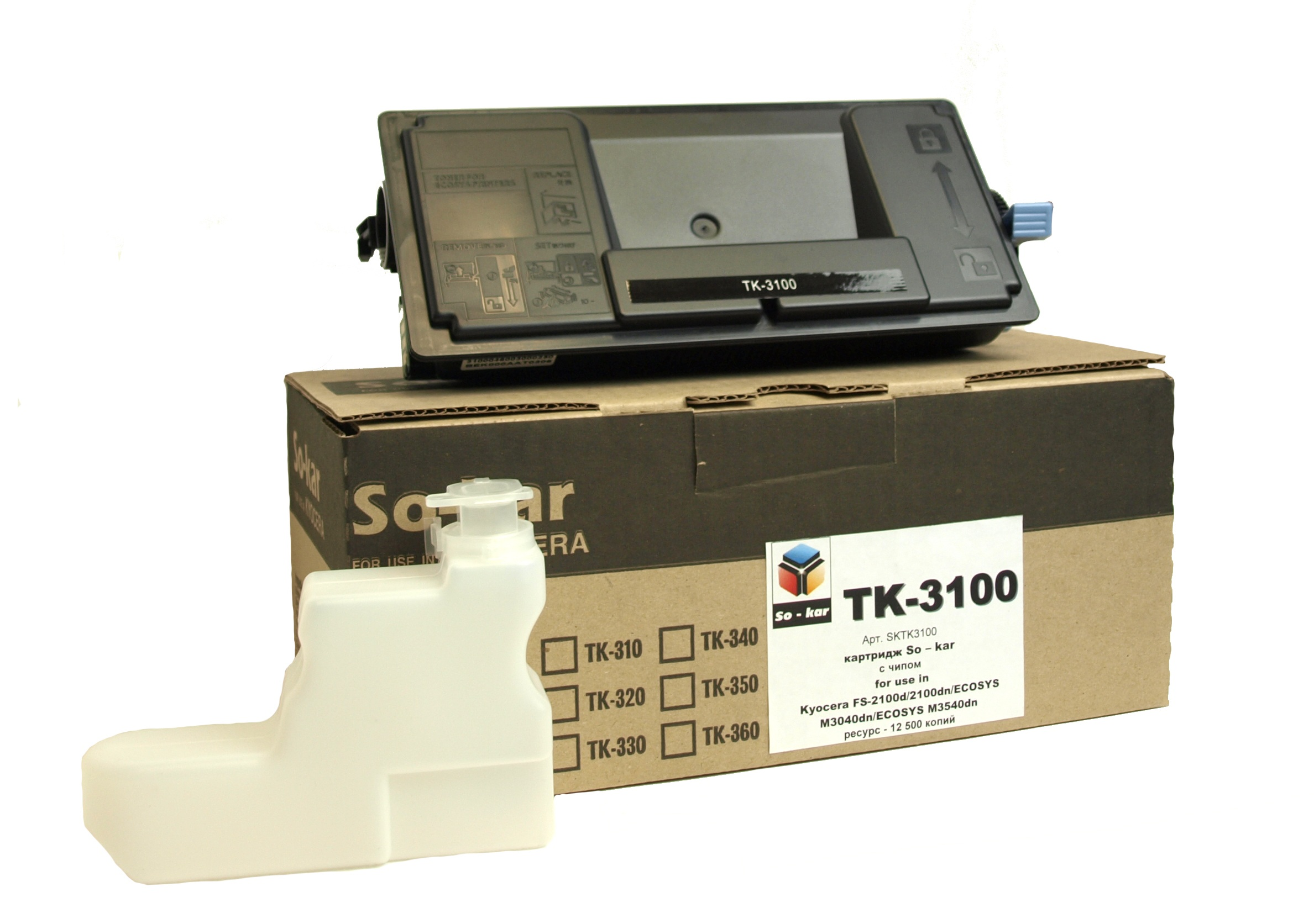 TK-3100 So-kar картридж для Kyocera с чипом 12500K
